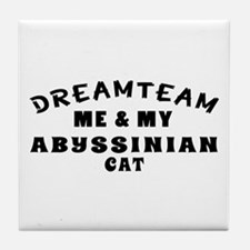 Abyssinian Cat Designs Tile Coaster
