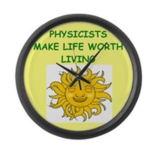 physicist Large Wall Clock