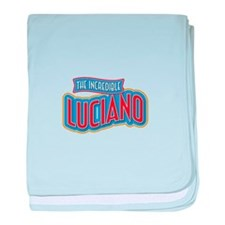The Incredible Luciano baby blanket