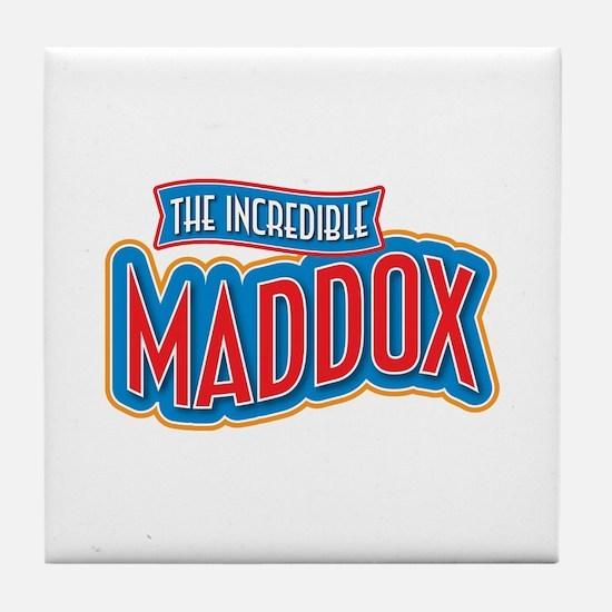 The Incredible Maddox Tile Coaster