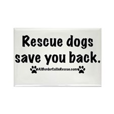 Rescue dogs Rectangle Magnet