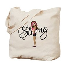 Strong Fit Girl Tote Bag