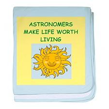astronomer baby blanket