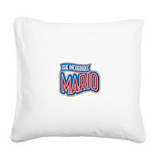 The Incredible Mario Square Canvas Pillow