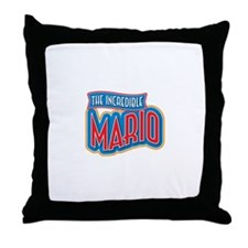 The Incredible Mario Throw Pillow