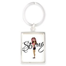 Strong Fit Girl Portrait Keychain