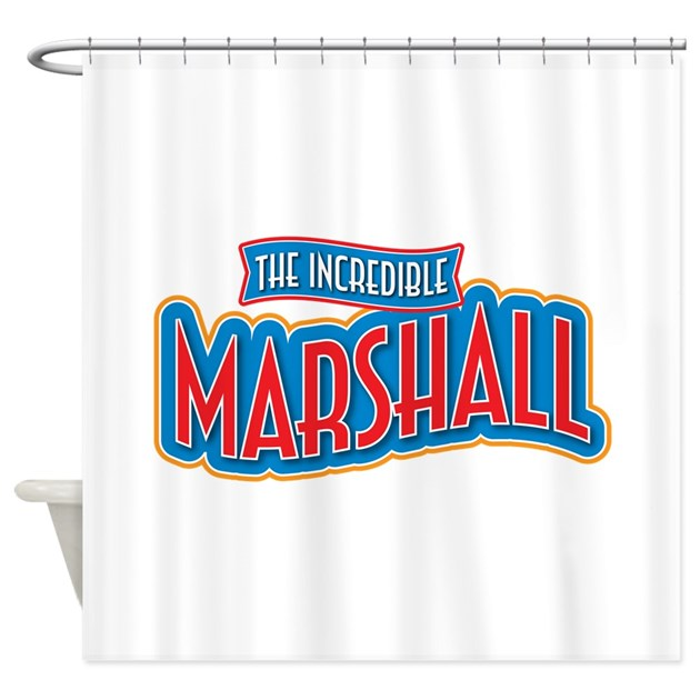 The Incredible Marshall Shower Curtain By IncredibleNames2