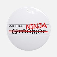 Job Ninja Groomer Ornament (Round)