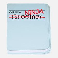 Job Ninja Groomer baby blanket