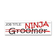 Job Ninja Groomer Car Magnet 10 x 3
