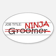 Job Ninja Groomer Sticker (Oval)
