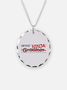 Job Ninja Groomer Necklace Circle Charm