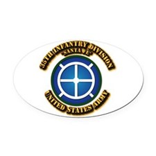 Army - 35th INF - Div - SSI Oval Car Magnet