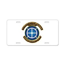 Army - 35th INF - Div - SSI Aluminum License Plate