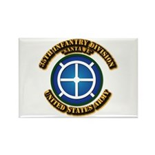Army - 35th INF - Div - SSI Rectangle Magnet