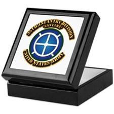 Army - 35th INF - Div - SSI Keepsake Box