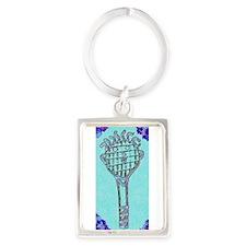 Cute Blue Tennis Racket 47 Designer Keychains