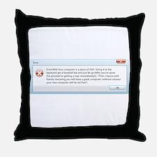 get a mac Throw Pillow