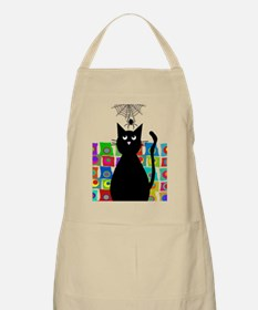 cat and spider shower curtain 5 Apron