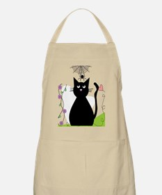 cat and spider shower curtain 3 Apron
