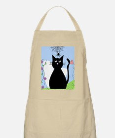 Cat and spider shower curtain 2 Apron