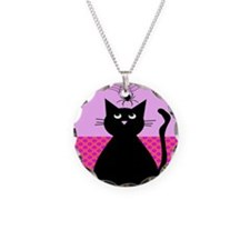 Whimsical Cat and Spider Necklace