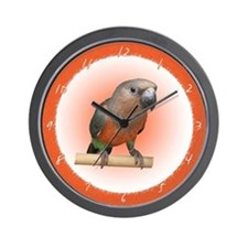 Red Bellied Parrot Clock