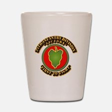 Army - 24th IN DIV - SSI Shot Glass
