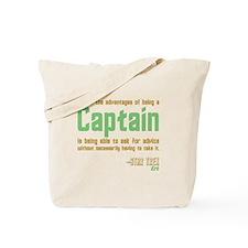 Captain Kirk Quote Tote Bag