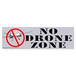 No Drone Zone Bumper Sticker