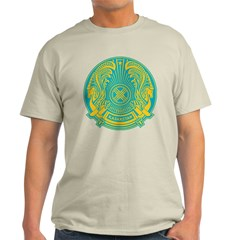 Kazakhstan Coat of Arms Ash Grey T-Shirt