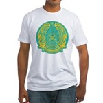 Kazakhstan Coat of Arms Fitted T-Shirt