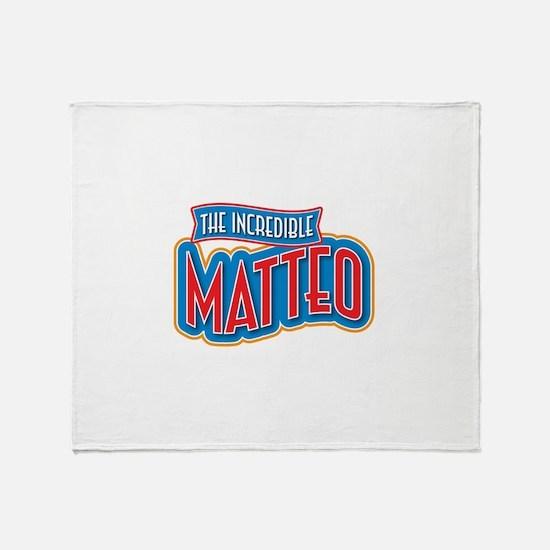 The Incredible Matteo Throw Blanket