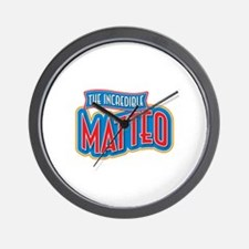 The Incredible Matteo Wall Clock