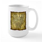 Celtic Letter V Large Mug
