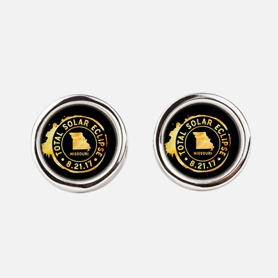 Eclipse Missouri Round Cufflinks