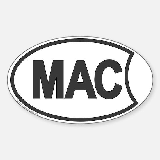 Mac Oval Decal