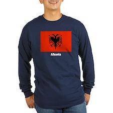 Albania Albanian Flag (Front) T