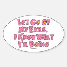 Let Go Now Oval Decal