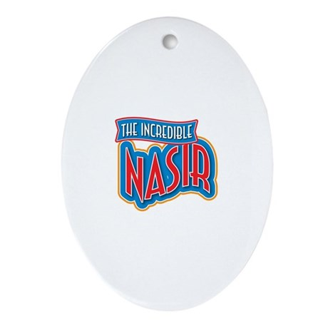 The Incredible Nasir Ornament (Oval)
