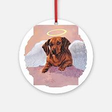 Daschund Angel Ornament (Round)