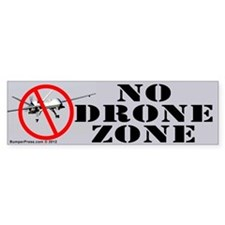No Drone Zone Bumper Bumper Sticker