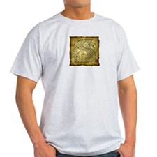 Celtic Letter S Ash Grey T-Shirt
