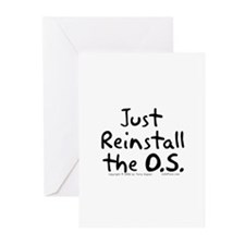 Just Reinstall... Greeting Cards (Pk of 10)