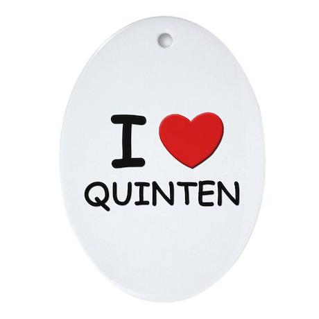 I love Quinten Oval Ornament