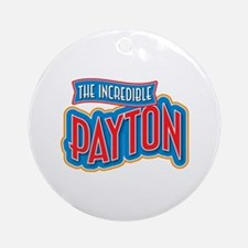 The Incredible Payton Ornament (Round)