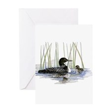 Loon and baby Greeting Card