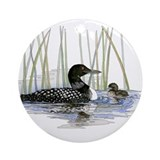 Loon Round Ornaments