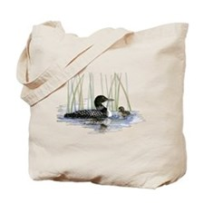 Loon and baby Tote Bag