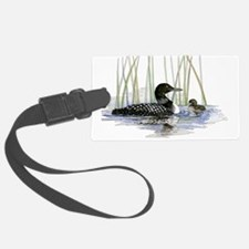 Loon and baby Luggage Tag